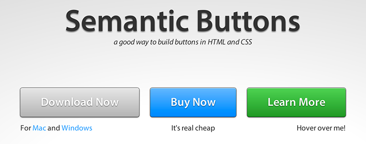 Semantic Button Layout